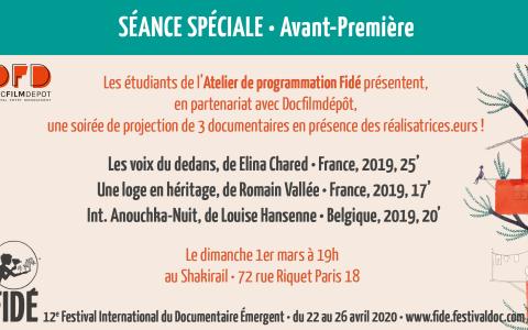(Français) Avant-Première FIDÉ 2020